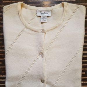 Neiman Marcus 100% Cashmere XL Sweater Off White